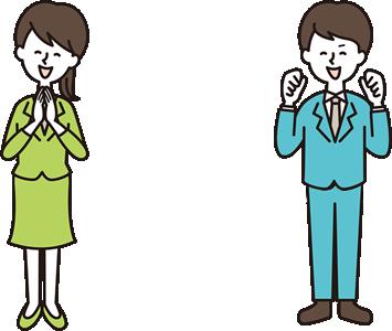 イラスト:女性と男性